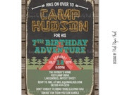 Camping Party - Sleepover Party - Outdoor Party - Printable Invitation - Customizable Wordings - Print Your Own