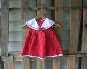 Vintage Red & White Polka Dot Dress by Rare Editions Size 2T