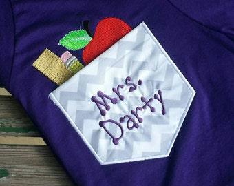 Personalized Teacher Pocket Shirt