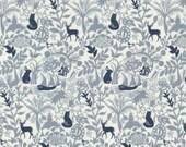 Secret Forest in Grey  430 - ENCHANTED - Dear Stella Design Fabric - By the Yard
