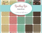 Fat Quarter Bundle - RAMBLING ROSE -  - by Sandy Gervais for Moda Fabrics - 40 FQs