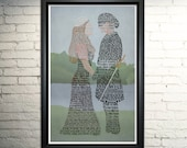 Princess Bride word art print -11x17""