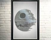 Return of the Jedi Poster Death Star Art Print Typography