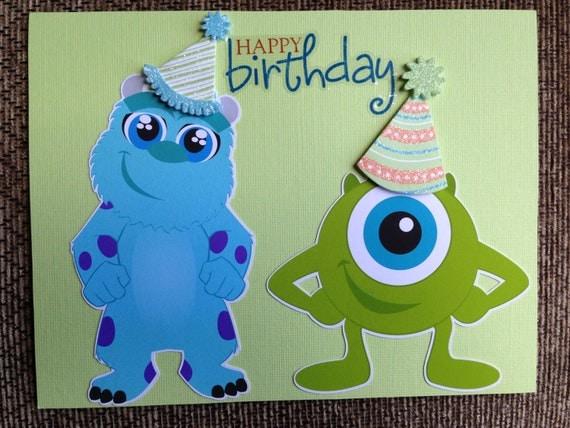 Monsters Inc Birthday Card
