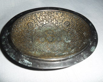 Vintage Small Ornate Jewelry Dish