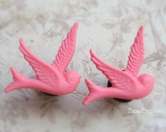 Bohemian Bird Plugs for Gauged Ears, Choose your color, Sizes 00, 0, 2, 4, 6 gauge, earrings