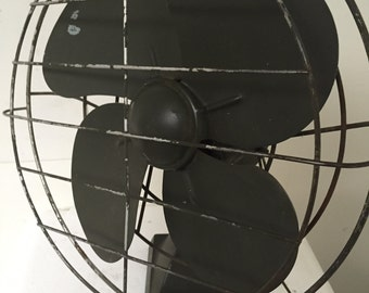 Vintage Military Army Green Table Fan