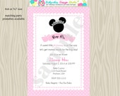 Minnie Mouse Baby Shower Invitation Minnie Princess Baby SHower Invitation invite pink Printable DIgital DIY
