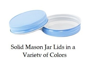 Mason Jar Lids, SOLID Mason Jar Lids, No Holes, Wedding, Baby Shower, Mason Jar Favors, Mason Jars, Party Favors, Party Supplies, Jar Lids