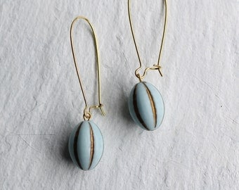 Hot Air Balloon Earrings ... Blue Vintage Earrings
