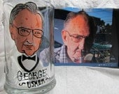 FIVE Wedding Caricature Portrait Beer Mugs Painted  Beer Glass Cartoon   Personalized  Wedding