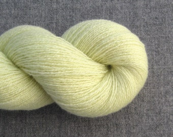 Lace Weight Recycled Cashmere Yarn, Celery Green