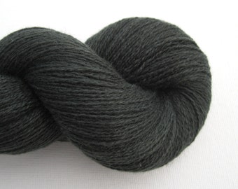 Lace Weight Silk Cashmere Recycled Yarn, Forest Night, Lot 010915