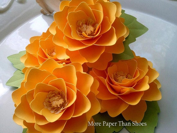 Paper Flowers - Wedding Decor - Table Decorations - Placecards  - Made to Order - Set of 50 - Any Color
