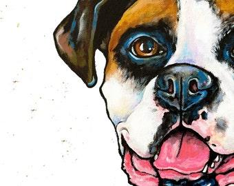 Custom Pet Portrait 10x10 canvas Original Canvas Art Painted from your photographs Dog Art Pet Art