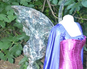 Tinkerbell CAMO Fairy Wings Faerie Queen Forest Woodland camouflage gown dress up adult s Child l costume celtic Halloween cosplay larp elf
