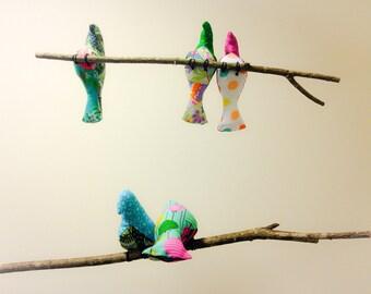 Baby Mobile~BIRD MOBILE~ Nursery Mobile~Cot Mobile~Nursery Decor~Modern Mobile~Baby Shower Gift~Woodland Nursery~Hanging Mobile~