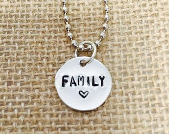 Simple. Family. Necklace.