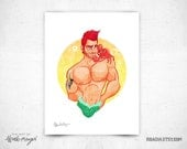Little Merman - 8x11 print