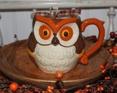 Best Seller- CIDER LANE Scented Primitive Owl Fall Candle- Caramel Apple Highly Scented