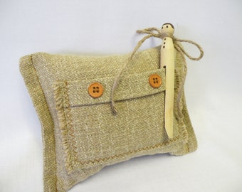 Natural Rustic Casual - Gift Card Holder or Pillow for the Tooth Fairy