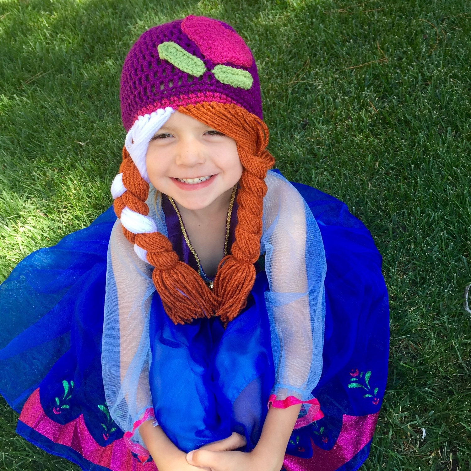 Anna And Elsa Inspired Hat Crochet Anna And Elsa Wig