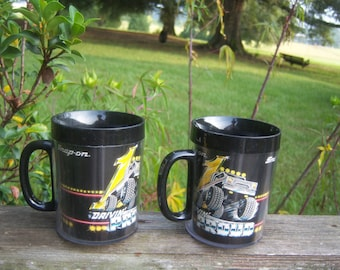 Vintage Snap On Tools Thermal Cups Drivin' Proud Set 2 Plastic Black Camping Father's Day Racing Men Gift Black Cup