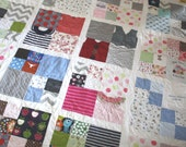 Memory Quilt T-Shirt Quilt made with Baby Clothes or T-Shirts 4 Square with Sashing Your Custom Size