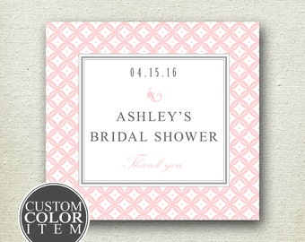 24 - Personalized Labels - Metropolitan Design 3.5 x 3.5 inch - ANY COLOR - wedding labels, favor labels, adhesive labels, custom labels