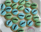 Mustache cookies - MINI baby cookies - little man mustache cookies