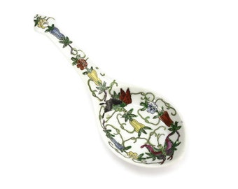 Asian Spoon Rest Holder - Cantonese Spoon Rest, Decorative Spoon Rest, Yang Chen Signed, c1960s