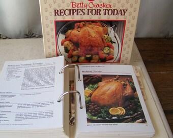 Vintage Betty Crockers Recipes For Today Cookbook Ring Binder Cookbook Two Volume Set Vintage 1980s