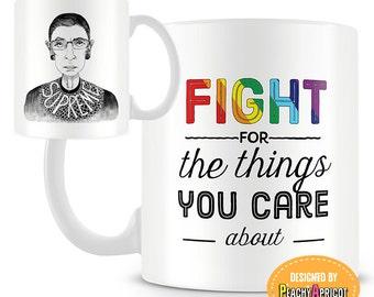 Ruth Bader Ginsburg - Quote Mug - Gift for Lawyer - Supreme - Gay Pride - LGBTQ - Justice - Mugs - Law - Student Gifts - Equality - RBG