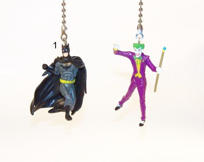 Batman & Joker Ceiling Fan Pull, Practical Gift, Gift for Boys, Gift for Kids, Kids Room Decor, Man Cave Decor, Batman Decor