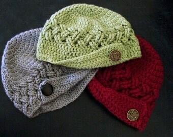 Braided Newsie Hat