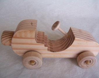 Toy Car Fun Runner, Handmade from Upcycled Wood for the Children, Kids, Youngsters