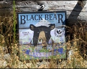 Black Bear Seed Co - Handcrafted Rustic Wood Sign - Original Alpine Graphics Design - Choose a Size - 2015