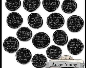 Journal It Circles #2 - Digital Art Supplies By Angie Young