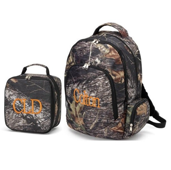 combo backpack lunch bag wood camo full size bookbag. Black Bedroom Furniture Sets. Home Design Ideas
