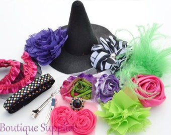"""Hot Pink DIY 6"""" Witch Hat and Headband Kit"""