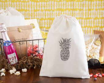 Pineapple Wedding Welcome Bag - You are the Pineapple of my Eye - Pineapple Wedding Favors - Beach Wedding Welcome Bag - Destination Wedding