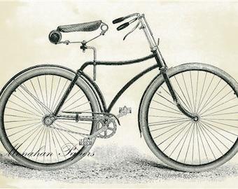 Bicycle - SPS401 - 11x17 Artist Print - Cycling - Bike - Scrapbooking - Decoupage