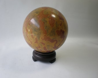 Vintage Heavy Solid Stone Ball Paperweight