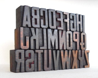 25% OFF -A to Z - Vintage Letterpress Wood Type Collection - VM026