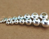 All Size Pure Silver Round Beads, S990 Bead Spacers, Allergy Free Fittings 15647207881