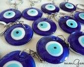Keychains, key chains, keychain, key chain, eye key chain, cobalt key chains, cobalt pendant, blue key chain, big eye pendant, evil eye