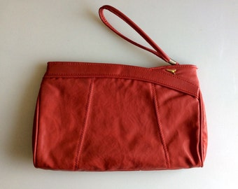 1980s Red CLUTCH Handbag