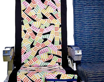 Airplane Seat Cover in Paper Candy