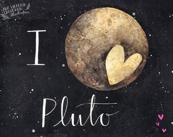 I <3 Pluto 8x10 Print