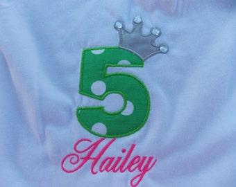 Birthday number shirt